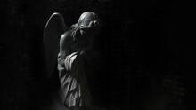 View Of Angel Statue In Darkroom