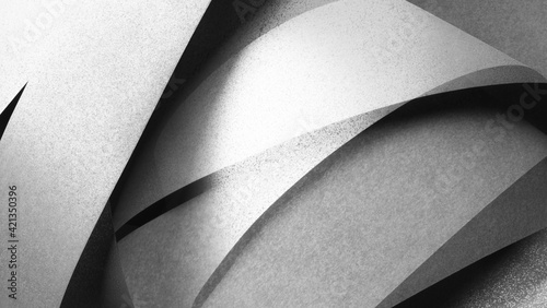 Fototapeta Geometric shapes made paper. Abstrac background obraz