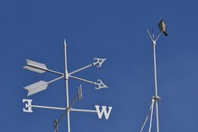 Low Angle View Of  Wind Direction Weather Vane