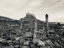 Old Ruins Of Rock Against Sky