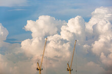 Man-made Wonders Against Roaming Clouds In The Morning Skies - Singapore