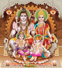 Browse High Resolution Stock Images Of Shiva Parvati Kartik Ganesh