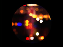 Abstract Discoball Or Magic Ball In Dark