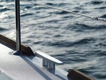 Close-up Of Sailboat Against Sea