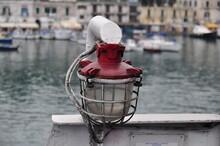 Red Lantern On A Ship