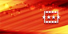 Movie Reviews Icon Special Summer Sunlight Orange Banner Background Bright Illustration