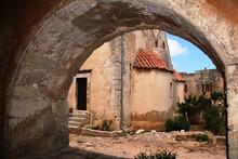 Exterior Of Old Arkadi Monastery