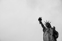 Low Angle View Of Statue Of Liberty