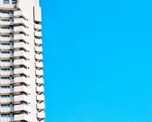 Buildings Against Clear Blue Sky