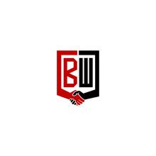 Bw Logo Hand Deal  Design Vector Icon