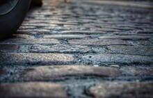 Close-up Of Cobble Stone Road