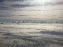 Aerial View Of Cloudscape Over Landscape