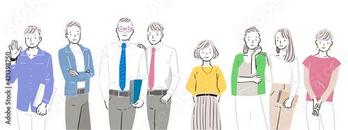 Foto 男性・女性のビジネスチームのイラスト