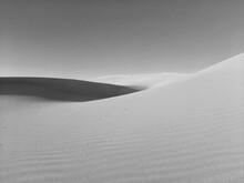 Sand Dunes In Sunny Day On Desert Of Algeria