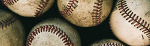 Full Frame Shot Of Baseball Balls