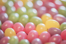 Close Up Of Jelly Beans, Macro Shot, Boken Background