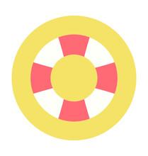Lifering Colored Vector Icon