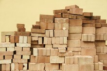 Stack Bricks Against Sky