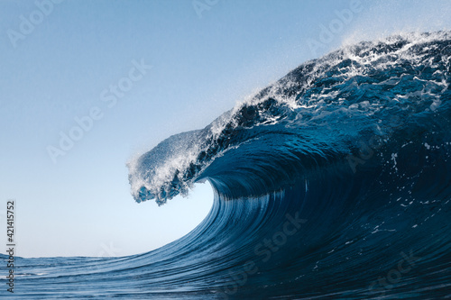 Blue Wave In Atlantic Ocean