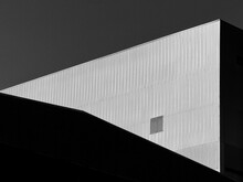 Minimalism Architecture Building In Street Black And White Style