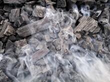 Full Frame Shot Of Charcoal Smoking