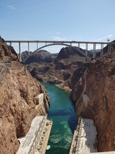 Bridge Over River Against Sky View From Hoover Dam