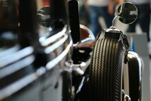 Close Up Of Detail Of A Classic Car
