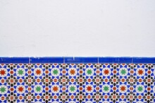 Half-tiled Colourful Wall