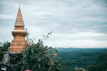 Panoramic View Of Temple And Building Against Sky