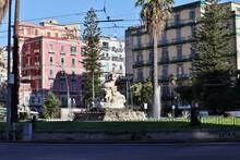 Napoli – Fontana Della Sirena In Piazza Sannazzaro