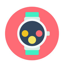 Wrist Watch Colored Vector Icon