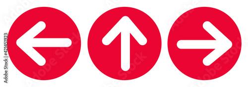 Fototapeta Arrow sign for direction ,Social distancing in COVID-19. symbol vector illustration obraz