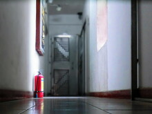 Fire Extinguisher At Corridor