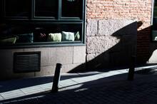 Shadow Of Window On Tiled Floor