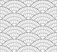 Fan Shape Granite. Cobble Stone Circle Pavement. Geometric Outdoor Paving Stone Tiles. Architectural Vector Texture Background.