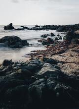 Rocky Coastline On A Lowtide