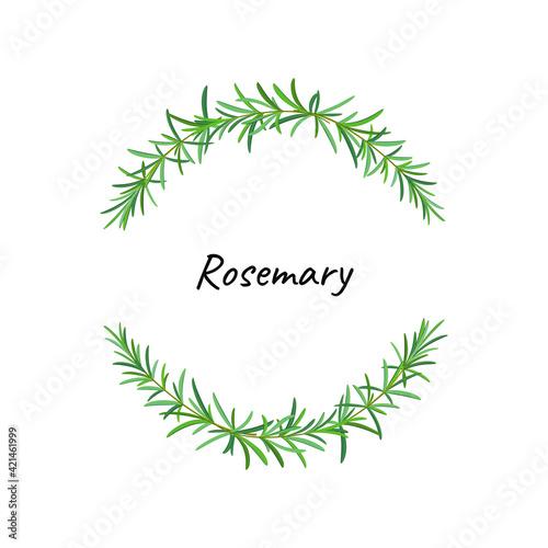 Wallpaper Mural Rosemary wreath