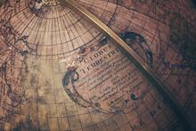 High Angle View Of Globe