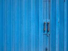 Blue Rolling Door