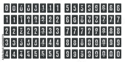 Flip countdown animation Fototapete