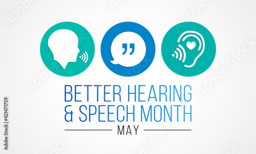 Fotografering Better hearing and speech month (BHSM) observed each year in May, it provides an opportunity to raise awareness about communication disorders