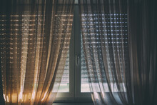 Sunlight Streaming Through Glass Window