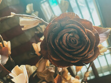 Vintage Bouquet Of Artistic Rose On The Table For Decoration