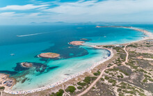 Stunning Aerial Of Formentera The Maldives Of Europe