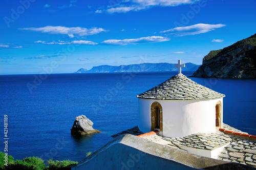 Fotografie, Obraz Greece, Skopelos island , Holy Monastery of the Annunciation