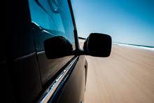 Car On Sand Beach In Australia