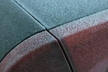Full Frame Shot Of Frosty Car Lights