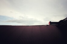The Roof Of A Red Building Lit By A Small Amount Of Sunlight, 15/11/2020 Padang, Indonesia.