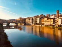 Florence, View Of The Ponte Vecchio In The Morning