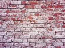 White Water Salt Or Sodium Chloride Layer On Bricks Wall